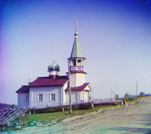 Igreja na aldeia de Shaidoma, 1915.