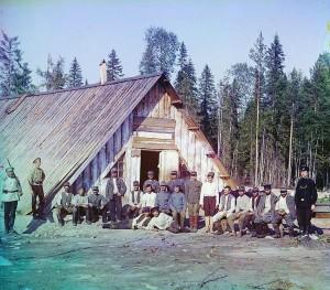 Prisioneiros de guerra austríacos próximo a Kiappeselga, 1915.