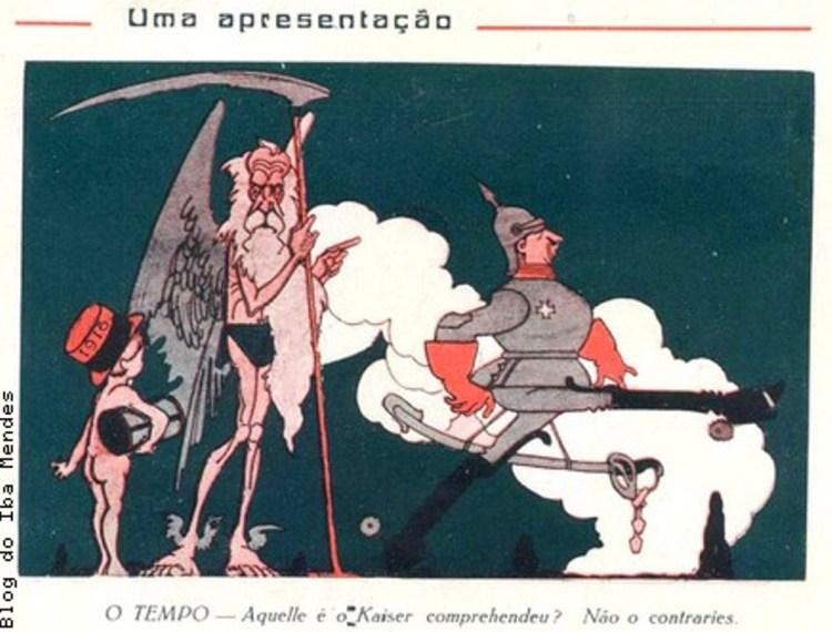 8 - charges sobre a Primeira Guerra Mundial - Revista A Cigarra - 1915 (o correto) - Blog do IBA MENDES....